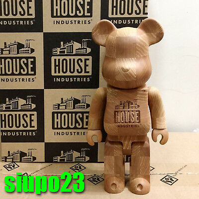 $1799.99 • Buy Medicom 400% Bearbrick ~ House Industries Chess Wood Be@rbrick Wooden