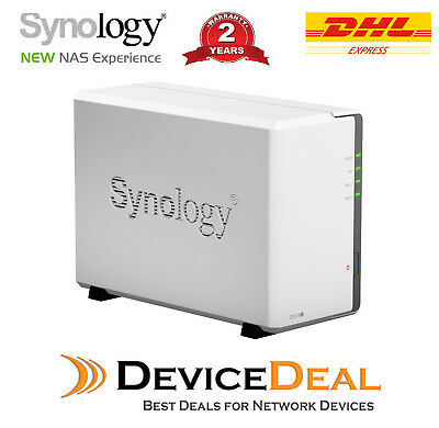 AU289 • Buy Synology DiskStation DS218j 2 Bay Diskless NAS Dual Core CPU 512MB RAM