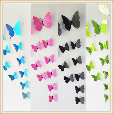 AU6.95 • Buy Magnet Removable 3D DIY Butterfly Wall Stickers Kids Art Nursery Xmas Decoration
