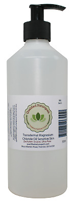 500ml Transdermal Magnesium Chloride Oil Sensitive Skin *Zechstein Sourced* Pump • 14.95£