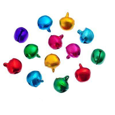 Approx 100 Small Mixed Colour Aluminium Christmas Jingle Bells Charms 6mm Crafts • 1.99£