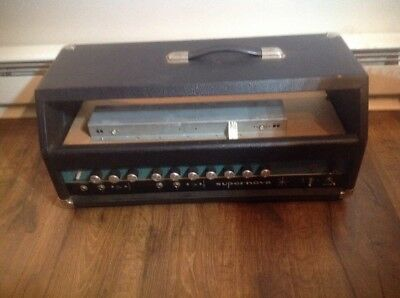 $ CDN491.62 • Buy Vintage Supernova Guitar Amplifier Amp Head Parts Or Repair Untested 350 Watt