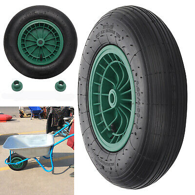 14  Wheelbarrow Wheel Pneumatic Inflatable Tyre 4.80/4.00-8 With Axle Fittings • 13.59£