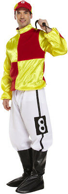 Christmas Men's Adult Jockey Red-yellow Costume Jickey Party Fancy Dress Outfits • 23.99£