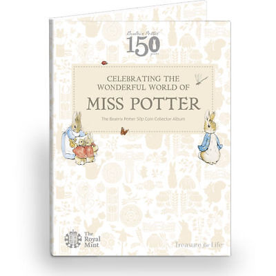2016 Beatrix Potter 50p Fifty Pence Coin Hunt Collector Album NEW • 12.99£