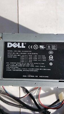 $75 • Buy Dell XPS 710-720 1000w Power Supply, N1000P-00, 24 Pin SATA. With Power Cord