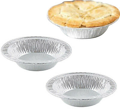 £9.99 • Buy 100x Foil Dishes Steak Pie Small Custards Round Pies Fruit Cases Individual Meat