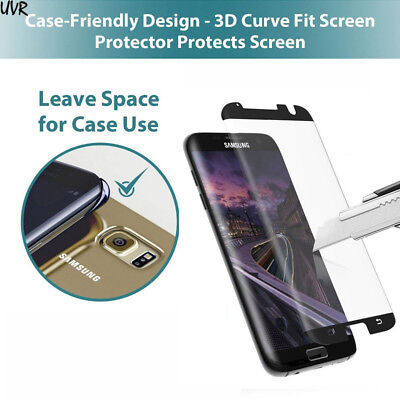 $ CDN4.13 • Buy 3D [Case Friendly] Tempered Glass Screen Protector For Samsung Galaxy S7 Edge