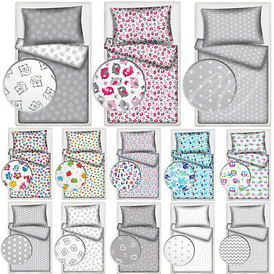 2 Piece Baby Bedding Set Cot Bed Toddler Junior Bed Duvet Cover + Pillowcase • 11.99£