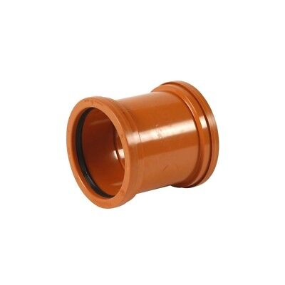 Double Socket Pipe Coupler 4 /110mm For Underground Sewer Pipes • 9.39£