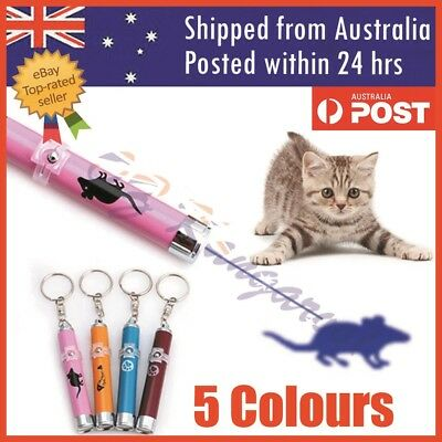AU5.99 • Buy Cat LED Laser Pointer Toy With Bright Mouse Animation For Endless Fun 5 Colors