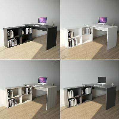 £68.99 • Buy WestWood L-Shaped Corner Computer Desk PC Table Home Work Office Study CD12