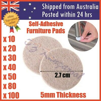 AU5.99 • Buy Felt Pad Furniture Floor Protector Pads Self Adhesive Round Heavy Duty 5mm