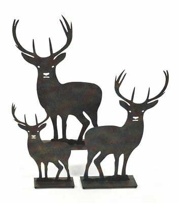 £17.99 • Buy Metal Stag Silhouette Statue For Indoors Or Garden 32.5, 42.5 Or 48cm Tall