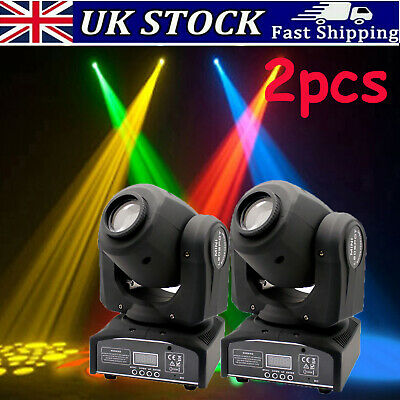 2PCS 30W RGBW GOBO LED Moving Head Light DMX512 Disco Lights DJ Party Show Light • 129.99£