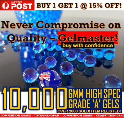 AU9.99 • Buy 6mm Gel Ball Ammo 6mm Gel Balls Hard Gel Ball Ammo Jm M4a1 Well M4 Gel Balls 7mm