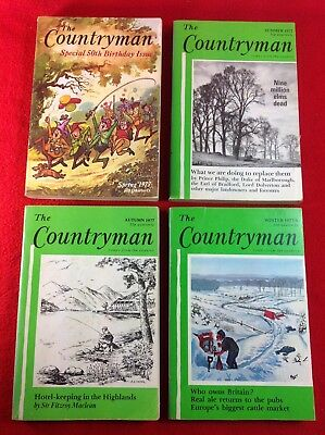 The Countryman Magazine : 4 Issues : 1977 - (50th Birthday Issue) • 6.99£