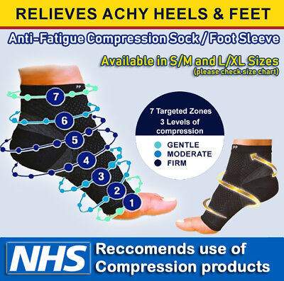 £3.29 • Buy 2x Compression Sleeves Socks Plantar Fasciitis Foot Heel Ankle Arch Pain Support