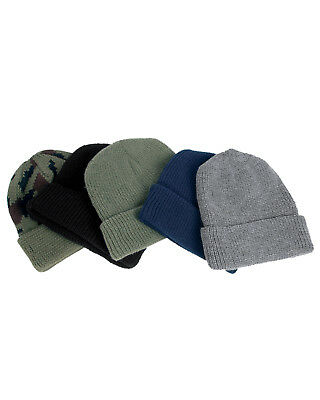 Winter Knitted Army Watch Cap Roll Up Ski Beanie Hat • 5.99£