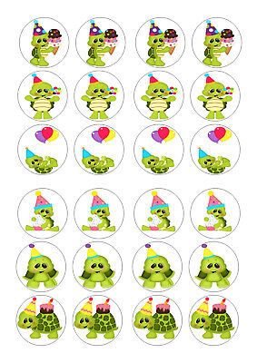 £3.90 • Buy 24 Turtles  Birthday  Ice/icing Edible Fairy/cup Cake/buns  Toppers
