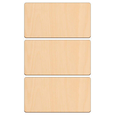 RECTANGLE Shape Craft Blank 16x8.5cm BIRCH Wood Plaque Sign Pyrography • 3.20£