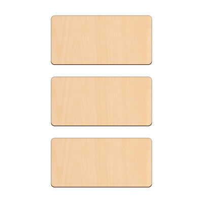 RECTANGLE Shape Craft Blank 13.7x6.7cm BIRCH Wood Plaque Sign Pyrography • 2.65£