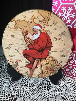 $ CDN24.34 • Buy Norman Rockwell Gorham 1981 Collectible Christmas Plate  Santa Plans His Visit