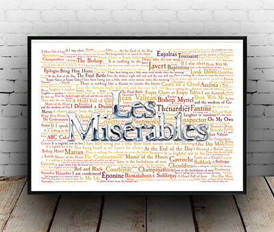 £10.99 • Buy Les Miserables Musical Poster, Quotes, Lyrics, Wall Art, Poster, All Sizes