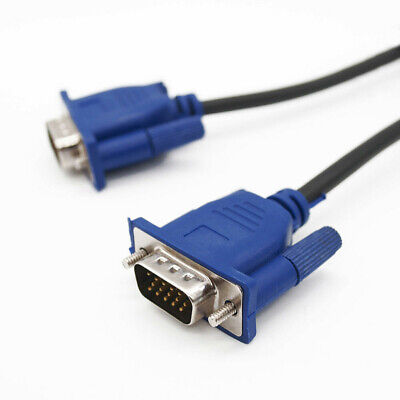 VGA Cable 1.5M SVGA HD15 Male To Male D-Sub Cable For PC Monitor LCD Projector • 3.38£
