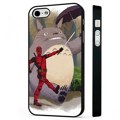 Deadpool Totoro My Neighbor Funny Marvel BLACK PHONE CASE COVER Fits IPHONE • 5.95£