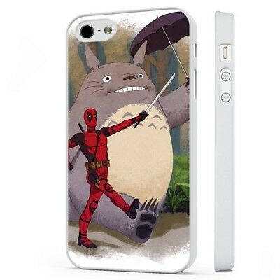 Deadpool Totoro My Neighbor Funny Marvel WHITE PHONE CASE COVER Fits IPHONE • 5.95£