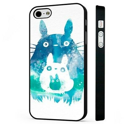 Totoro My Neibour Art Work Amazing BLACK PHONE CASE COVER Fits IPHONE • 5.95£