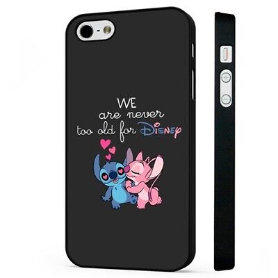 Lilo And Stitch Disney Love BLACK PHONE CASE COVER Fits IPHONE • 5.95£