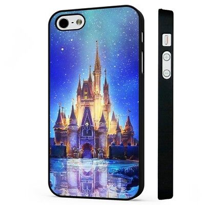 Magical Disney Fairytale Castle BLACK PHONE CASE COVER Fits IPHONE • 5.95£