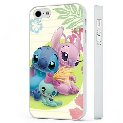 Lilo Stitch Girlfriend Disney WHITE PHONE CASE COVER Fits IPHONE • 5.95£