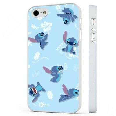Lilo Stitch Disney Aloha Pattern WHITE PHONE CASE COVER Fits IPHONE • 5.95£