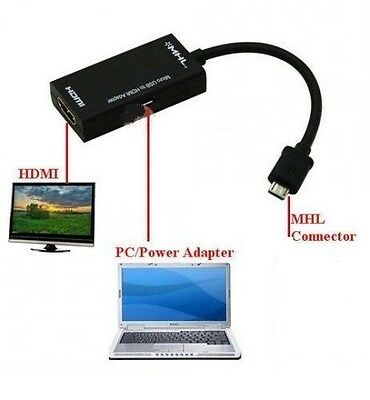 AU11.99 • Buy MHL HDMI Adapter Cable For Huawei: Ascend D Quad, Ascend P1 Connect To HD TV