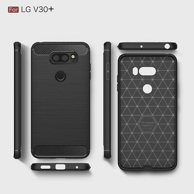 AU5.49 • Buy Shockproof Heavy Duty Rugged Carbon Fiber Case Cover For LG V30+ Plus