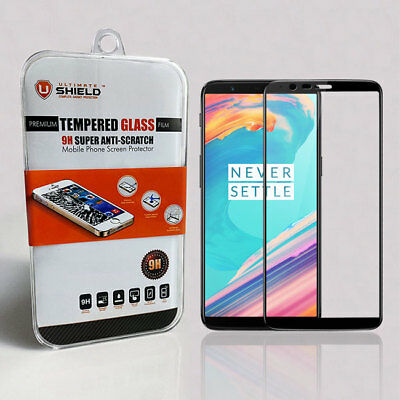 AU21.99 • Buy Ultimate Shield Tempered Glass Screen Protector For OnePlus 5T (Black)