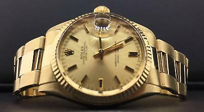 $ CDN9349.52 • Buy Rolex Vintage Datejust Midsize 31mm 14k Yellow Gold Champagne Dial MINT Ref.6827