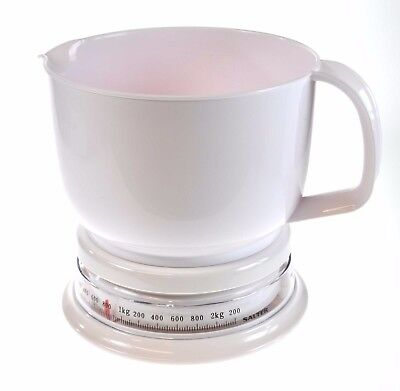 Salter Add N Weigh White Kitchen Analogue Jug Scales Metric Measurement  • 10.15£