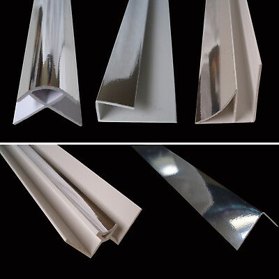 £11.55 • Buy Chrome 10mm Trims For 10mm Shower Bathroom Kitchen Ceiling PVC Wall Panels 2.4m