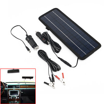 4.5W 12V Car Boat Yacht Solar Panel Trickle Battery Charger Outdoor Power Supply • 19.19£