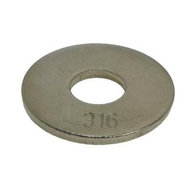 AU11 • Buy G316 Marine Stainless M8 (8mm) X 24mm X 2mm Metric Mudguard Penny Washer
