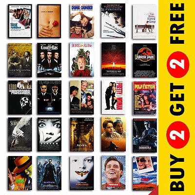 CLASSIC 90s MOVIE POSTERS, A3 A4 Size Film Art Print For Home Decor Gift Idea • 3.49£