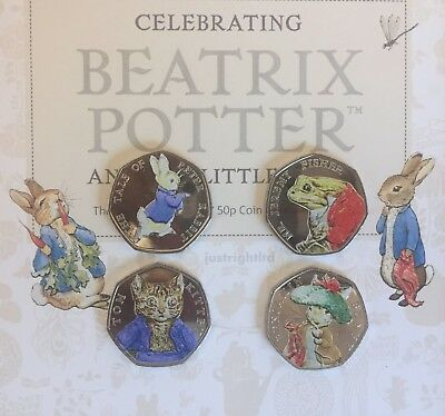 2017 Beatrix Potter Full Set Or Individual 50p Fifty Pence  Collector Album NEW • 8.99£