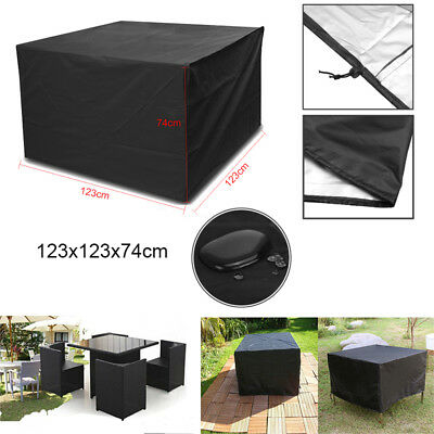 Garden Patio Furniture Set Cover Rattan Cube Table Chair Cover Square Waterproof • 10.79£