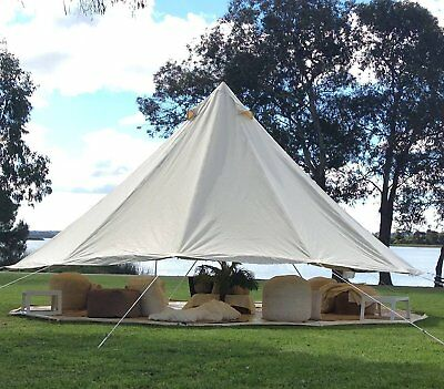 AU789.99 • Buy 3M 4M 5M 6M 7M Cotton Canvas Bell Tent Waterproof Camping Tent Yurt Glamping AU