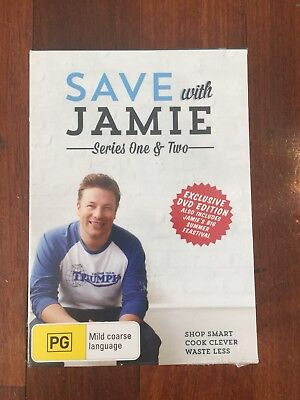 AU25.99 • Buy Save With Jamie Series 1 & 2 5 Disc Set Oliver New Sealed Dvd Aus Release