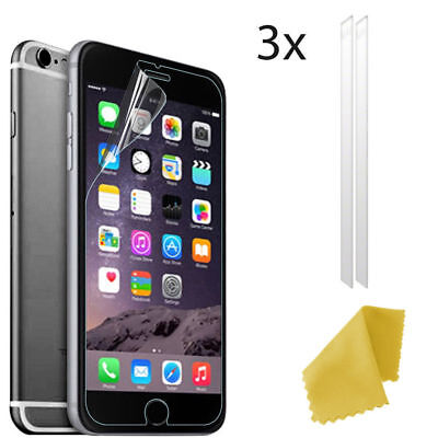 3 X Clear Plastic Screen Guard LCD Protector Film Layer For Apple IPhone 7 PLUS • 1.57£